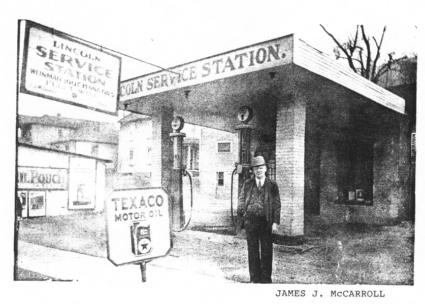 James Joseph McCarroll Lincoln Service Station 1920
